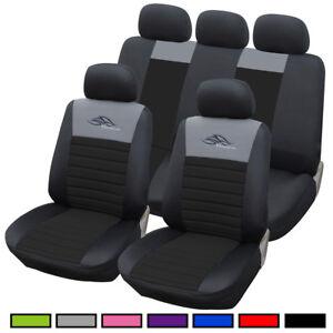 auto sitzbez ge sitzbezug schoner f r pkw ohne seitenairbag schwarz as7318sz ebay. Black Bedroom Furniture Sets. Home Design Ideas