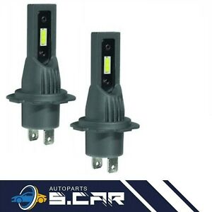 KIT 2 LAMPADE HEADLIGHT LED H7 12/24V 6000K AUTO MOTO SIRIUS luce bianca