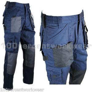 Blackrock Mens Cargo Combat Work Wear Trousers Pants Knee Pad ...