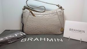 Image Is Loading Brahmin Nwt Braxton Dove Gray Taupe Normandy Shoulder