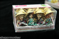 Porcelain Doll 12 per box 4 Styles Key Chain Ceramic Bendable Dolls *GREAT GIFT*