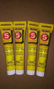 4 Tubes Rectorseal 25790 1-3/4-ounce Tube No.5 pipe Thread Sealant New Soft Set Glues, Epoxies & Cements Business & Industrial