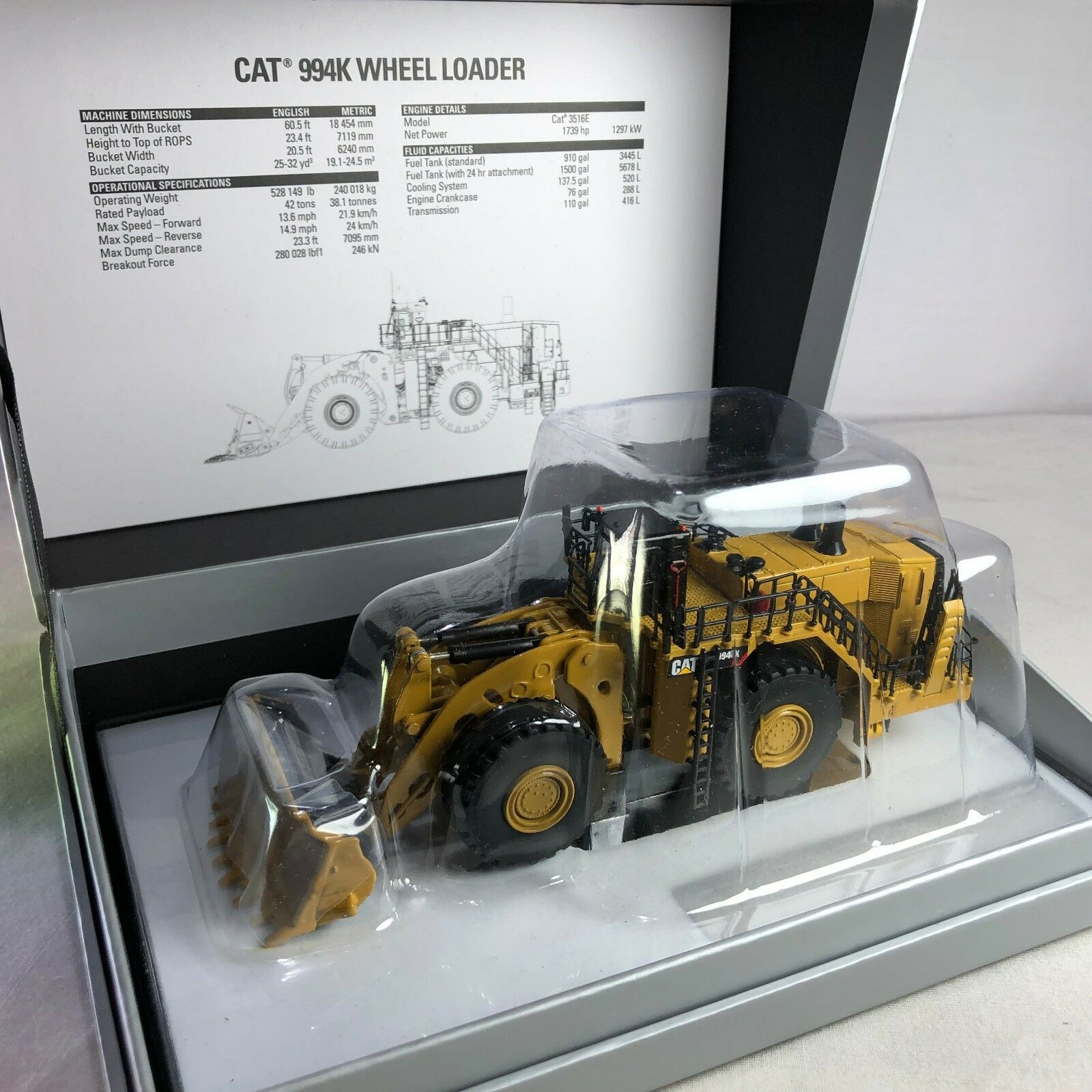1 125 Diecast masters Cat 994K Wheel Loader 85535