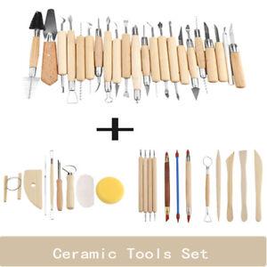 42Pcs-Art-Pottery-Sculpting-Tools-Set-Clay-Carving-Modeling-Tool-Wooden-Handle