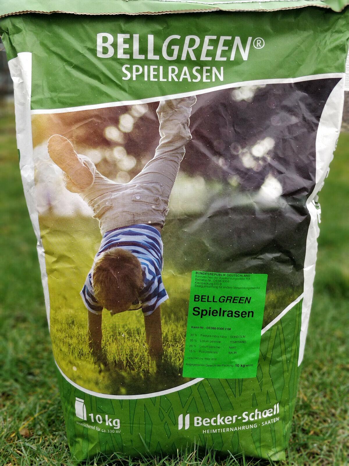 (EUR 4,19   kg) Spielrasen Rasensamen Bellgrön 10 Kg