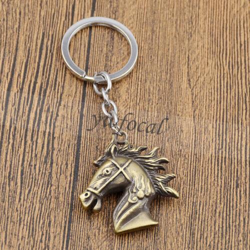 Metal Horse Head Key Holder Purse Pendant Gift Alloy Chain Punk Vintage Keyring