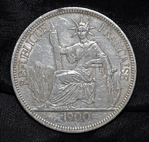 1900 French Indo-China, Piastre,