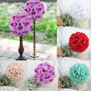 Rose Flower Ball Artificial Pomander Bouquet Kiss Ball Wedding ...