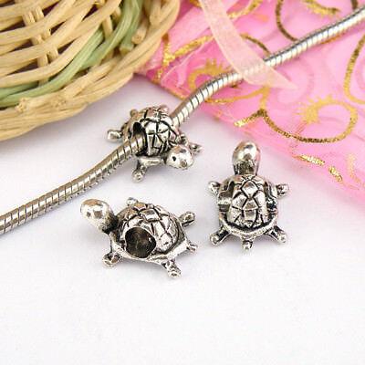 P411 12pc Tibetan Silver Charm tortoise Spacer Beads accessories wholesale