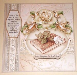 Handmade greeting card 3d sympathy with a bible and roses with image is loading handmade greeting card 3d sympathy with a bible m4hsunfo