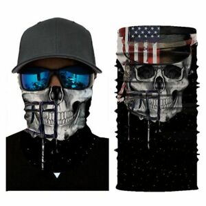 Face Scarf Bandana Neck Warmer 3D Motorcycle Ghost Skull Skiing Motorbike Helmet