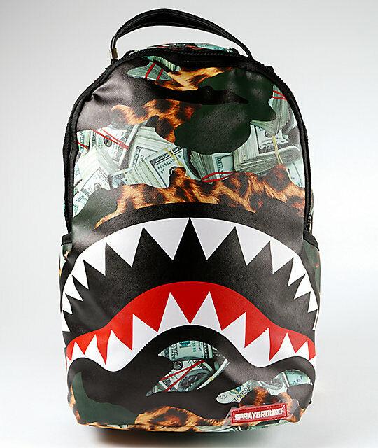 Sprayground Sonic Green Hill Shark Backpack For Sale Online Ebay