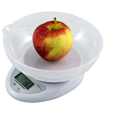 New Digital Kitchen Scale Diet Food Compact LCD Kitchen Scale Tray 5kg 11lb