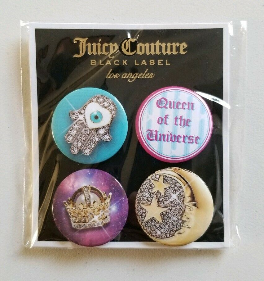 Rare Juicy Couture Black Label Los Angeles 4 Pin Set (New)