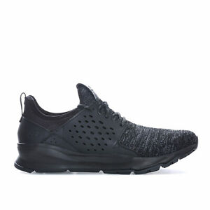 Mens-Skechers-Relven-Velton-Trainers-In-Black-Lace-Fastening-Air-Cooled-Memory