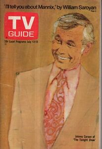 1974 TV Guide July 13 - Johnny Carson; Barnaby Jones and Cannon;Chicago building