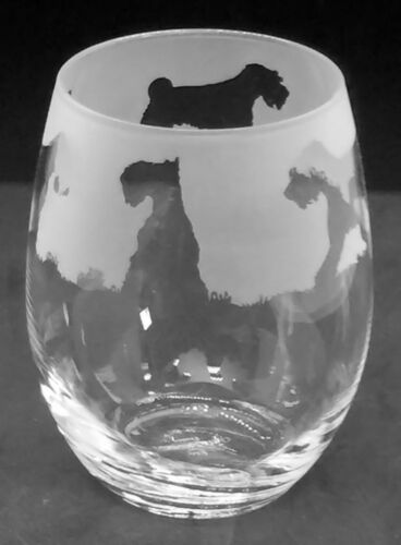 SCHNAUZER Frieze Boxed 36cl Crystal Stemless Wine Water Glass