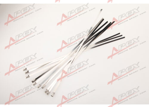 "10PCS12/"" STAINLESS STEEL WIRE//CABLE TIES LONG FOR EXHAUST PIPE METAL HEADER WRAP"