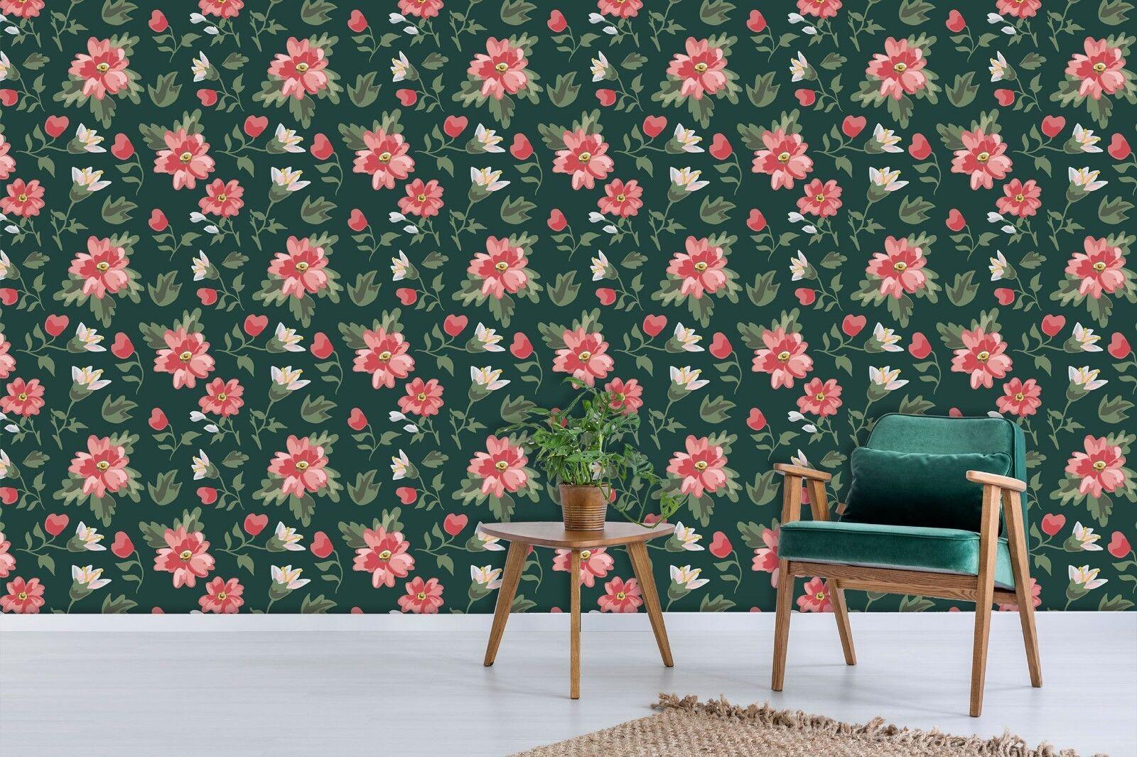 3D rot Flower 701 Wall Paper Print Wall Decal Deco Indoor Wall Murals US Summer