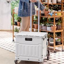 Us Foldable Utility Cart Ladder Wheel 110lbs Picnic Cart Chair Utility Cart Gray