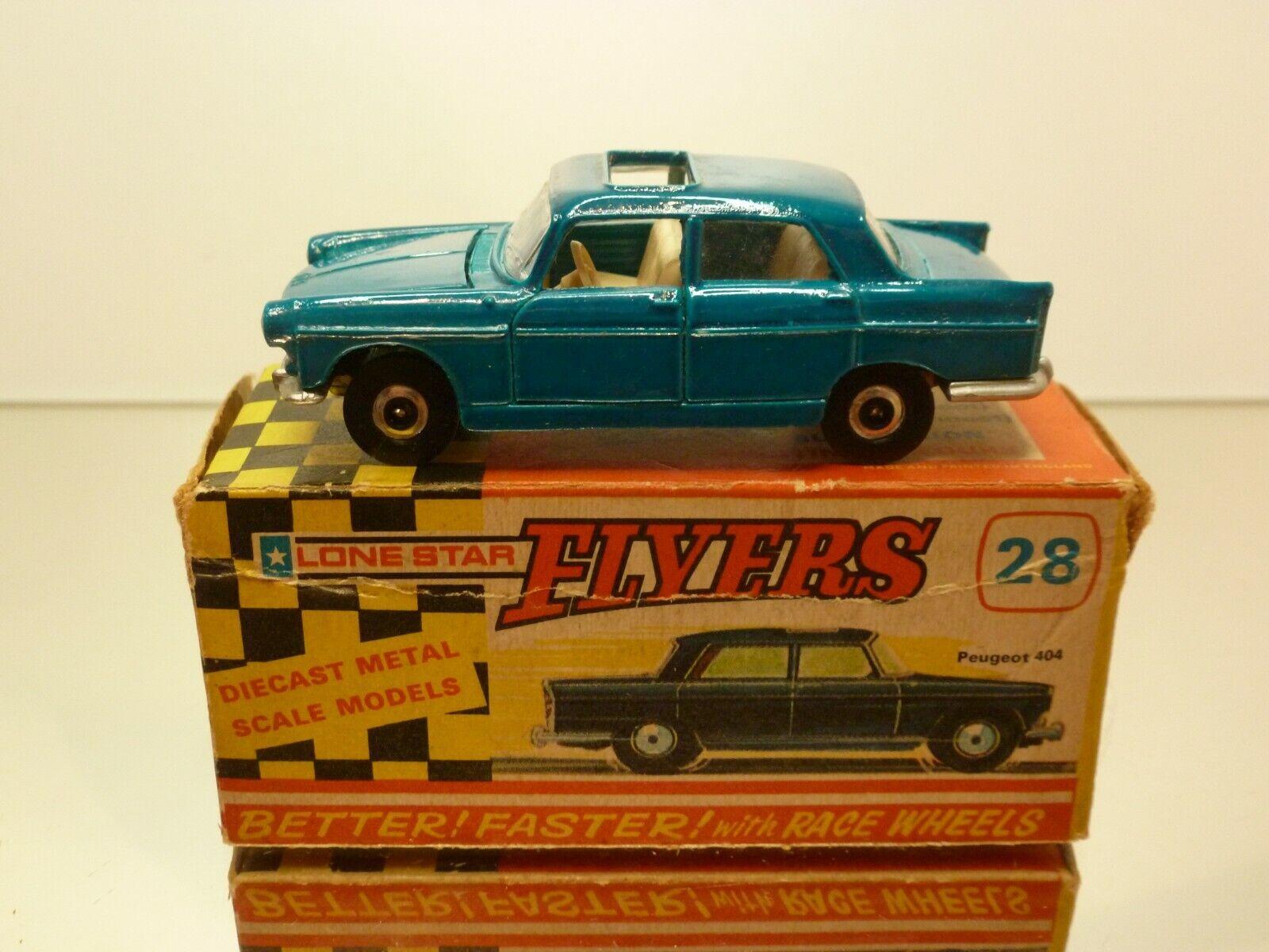 gran selección y entrega rápida FLYERS LONE Estrella 28 PEUGEOT 404 - azul - - - VERY GOOD CONDITION IN BOX  (IMPY)  gran venta