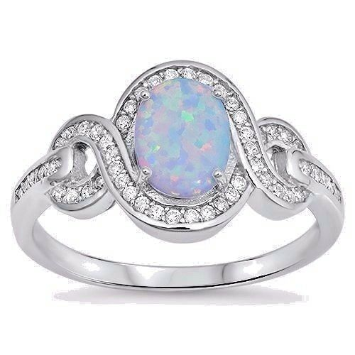 USA Seller Oval Ring Sterling Silver 925 Best Jewelry Selectable White Opal