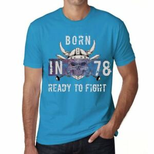 78-Ready-to-Fight-Hombre-Camiseta-Azul-Regalo-De-Cumpleanos-00390
