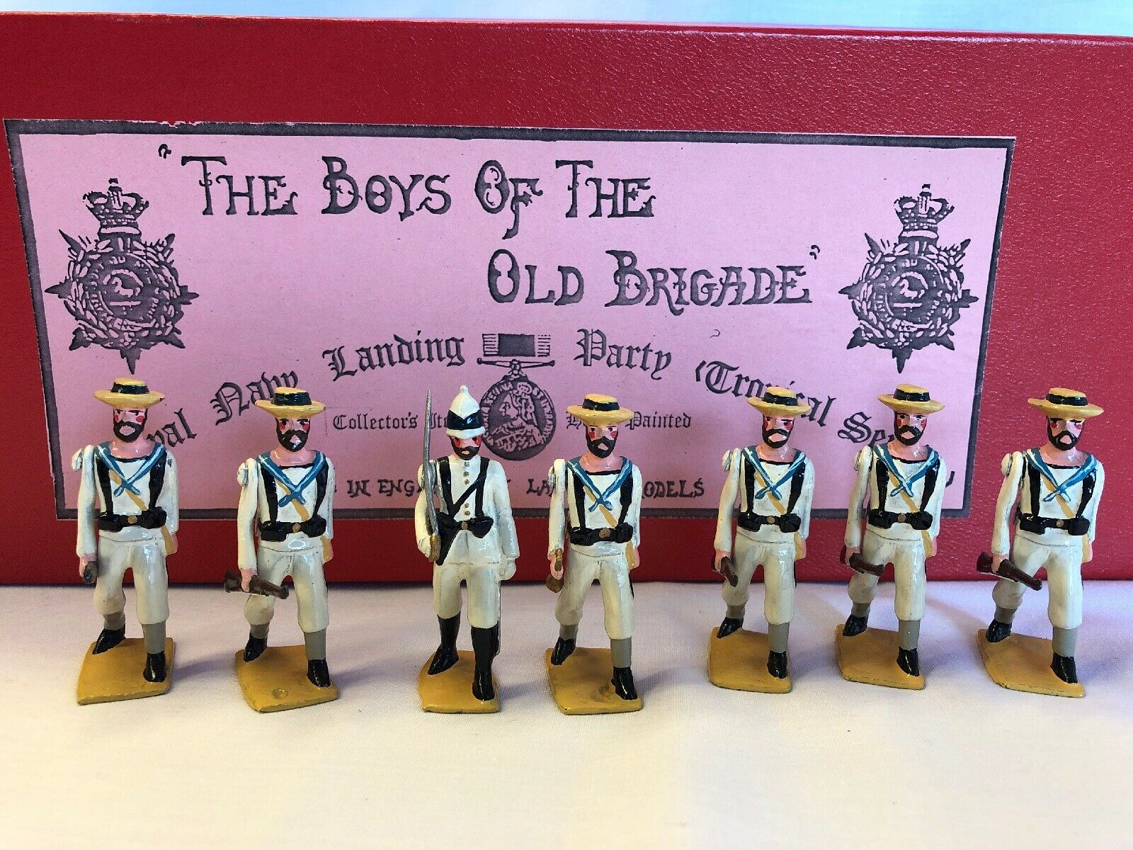 LANGLEY MODELS the BOYS of the old BRIGADE Royal Navy Landing Party Tropical