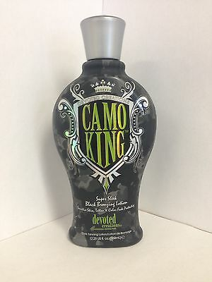 Camo King Black Bronzer Tattoo Protection Tanning Bed Lotion Devoted Creations