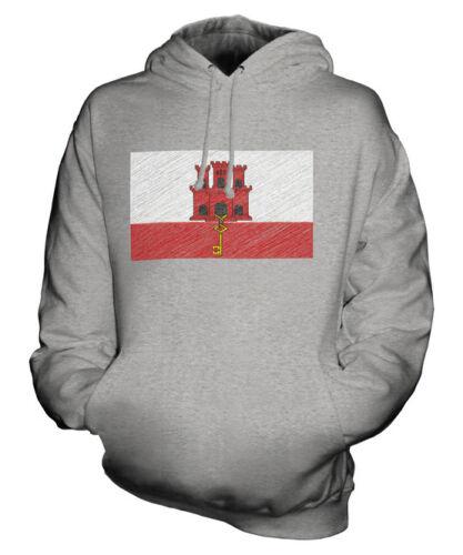 Felpa Idea Maglia Unisex Bandiera Calcio Scarabocchiato Gibilterra Regalo qPwRva