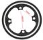 Chain Wheel Protector Black//Silver Bosch E-Bike 38T Chain Guard CNC Alloy
