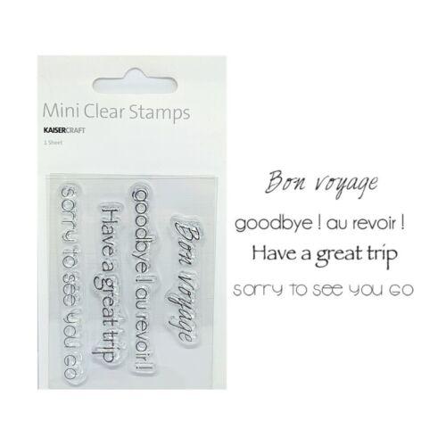 Bon Voyage Words Cling Stamps Kaisercraft Mini Stamp Set Verses,Sentiments,CS925