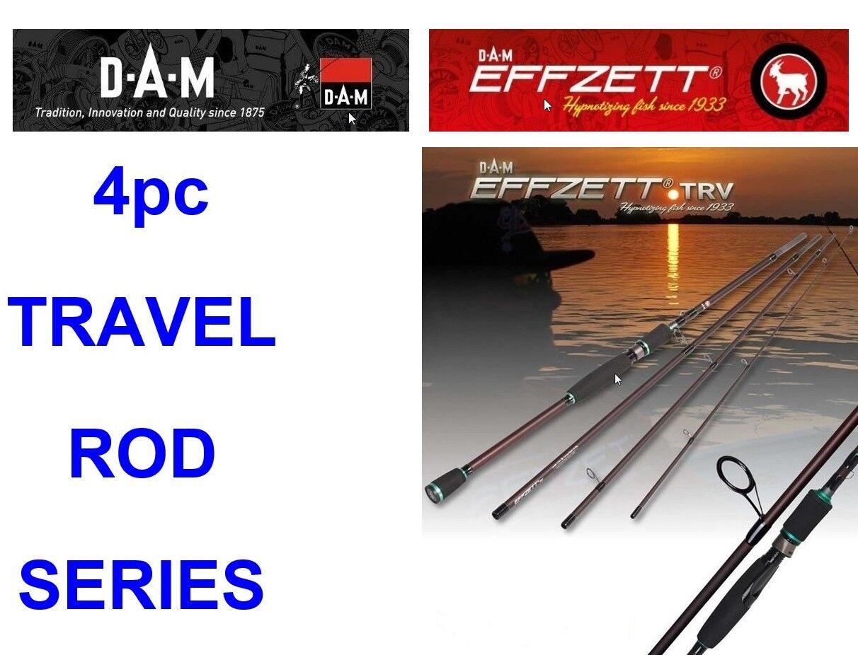 DAM EFFZETT TRV-G2 TRAVEL ROD SERIES FOR SEA GAME COARSE FISHING SPINNING LURES