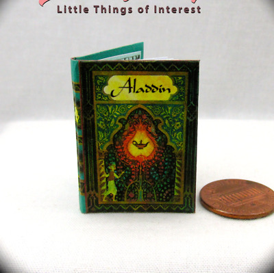 ALADDIN Color Illustrated 1:6 Scale Book Readable Miniature Book Magic Lamp