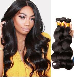 3-Bundles-300g-100-Brazilian-Virgin-Human-Body-Wave-Hair-Extensions-Weave-Wefts