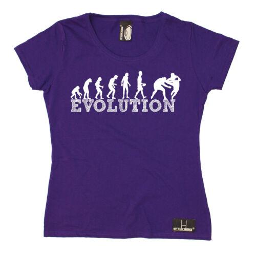 Evolution Rugby WOMENS T-SHIRT Fashion Rugger Fan Sports Funny Gift birthday