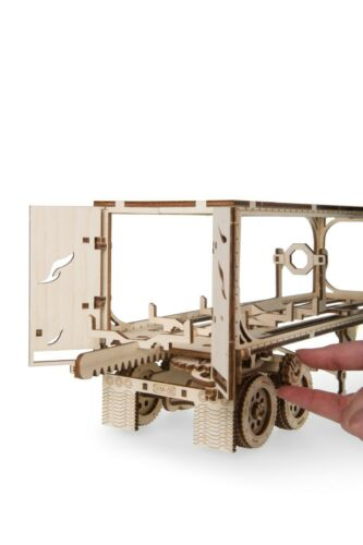 UGEARS Mechanical 3D Puzzle Wooden HEAVY TRUCK VM-03 TRAILER Model assembly