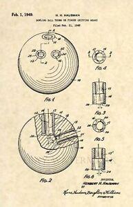 Official-Bowling-Ball-US-Patent-Art-Print-Vintage-1948-Original-Antique-191