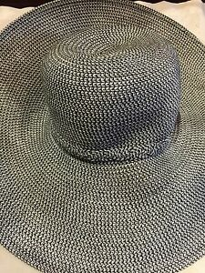 Vintage-Style-New-With-Tags-Woven-Straw-Wide-Brim-Sun-Hat