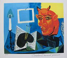 Pablo Picasso STILL LIFE W/ RED HEADED MINOTAUR Estate Signed Ltd Edition Giclee