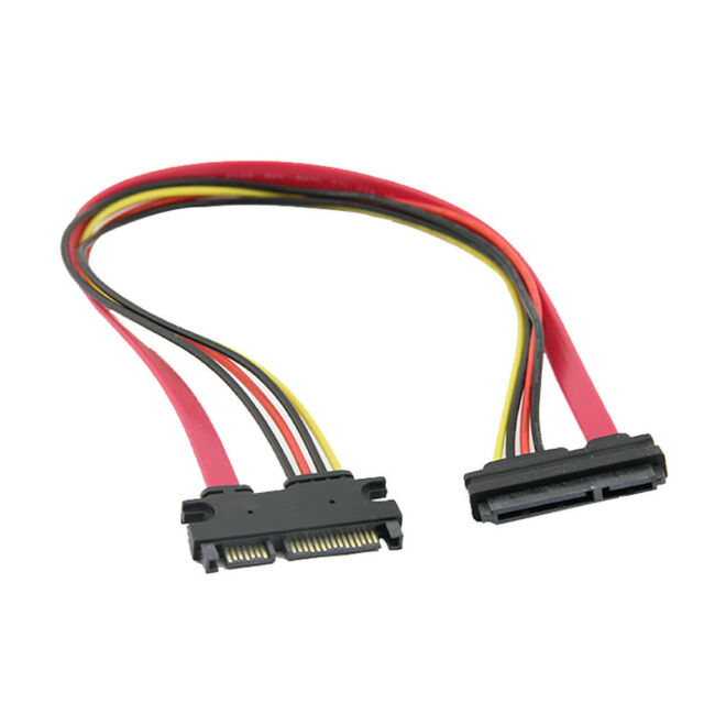 30cm 15 7 Pin SATA HDD Extension Cable Data Power Male To Female