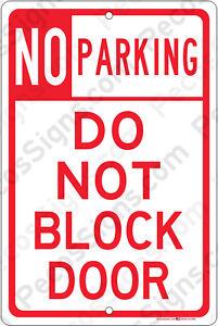 Details about No Parking DO NOT BLOCK DOOR - 8
