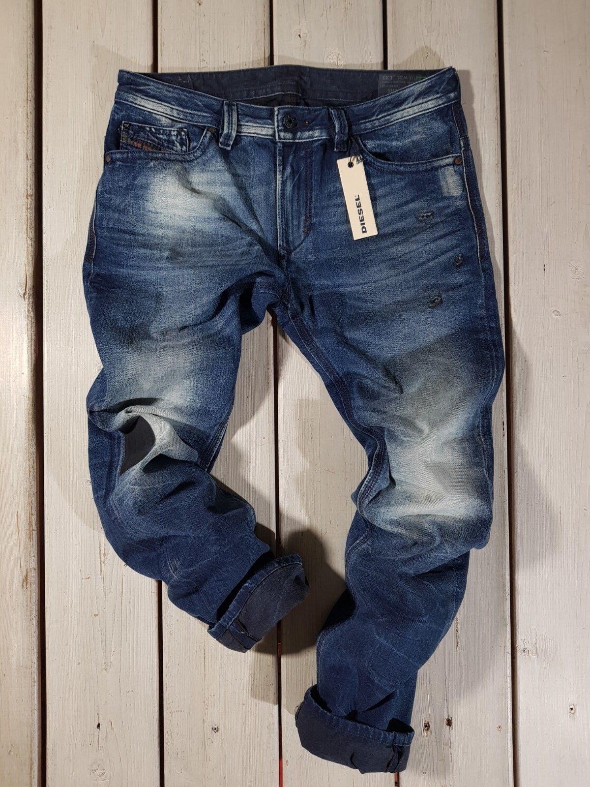 Precio recomendado de  venta  459 Nuevo Diesel Hombres Jeans THAVAR 0846L Slim Skinny Lavado a La Piedra  minoristas en línea