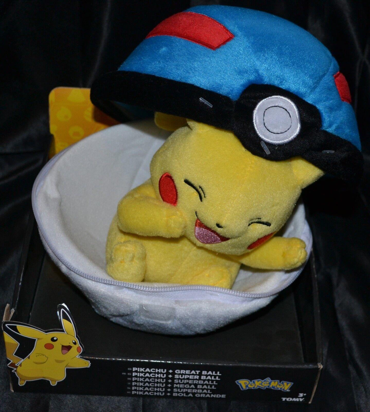 21.6cm Great Ball & Pikachu Pokemon Plüsch Puppen Spielsachen Original Offiziell