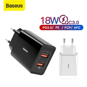 Baseus 18W Power Adapter PD QC 3.0 USB Typ C Schnell