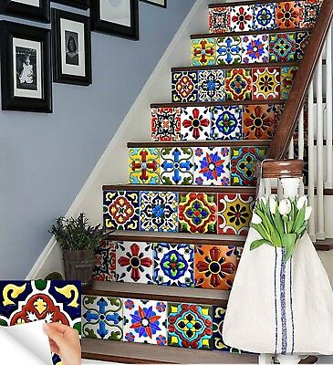 Kitchen Mexican TILE DECAL SET OF 24 Tiles Stairs mural tile stickers DIY AB2