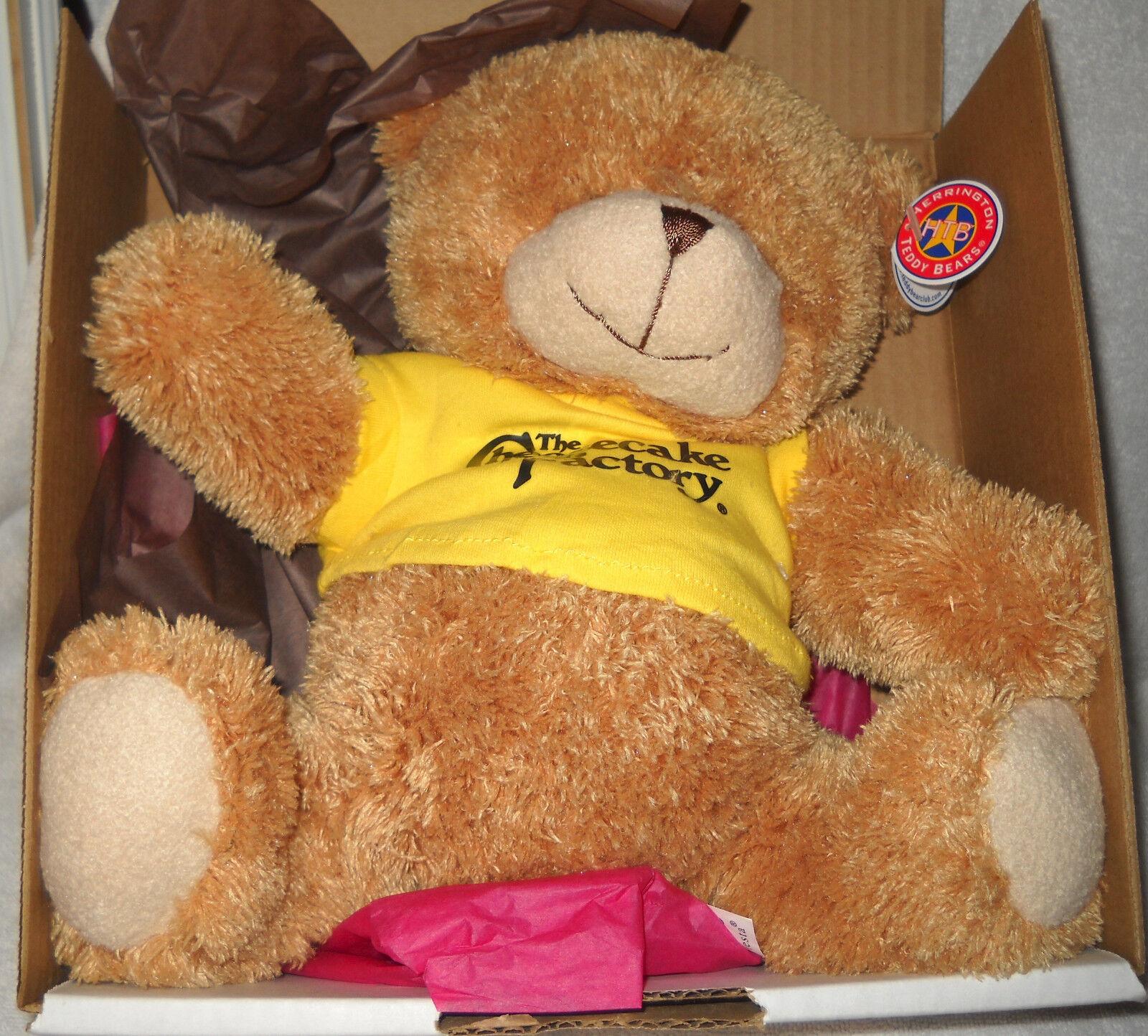 9523 RARE NIB Cheesecake Factory Teddy Bear with Original Box
