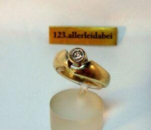 alte-Brillant-Ring-585-Gold-0-25-ct-Goldring-Brillanten-Gelbgold-BI-067