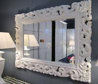 Großer Barock Wandspiegel Ornament 70x90 Standspiegel Spiegel Weiss Flurspiegel