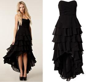 8eb0f3992240 Vestito Lungo Donna - Maxi Dress Woman - Nero - Black - Corto ...
